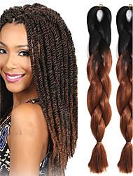 #33 Crochê Jumbo Extensões de cabelo 24 Kanikalon 1 costa 100g grama Tranças de cabelo