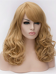 Europe And The United States 22 Inch Long Curly Wig Pale Golden Big Hair