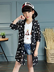 Girl's Casual/Daily Patchwork Suit & Blazer,Cotton Black / White