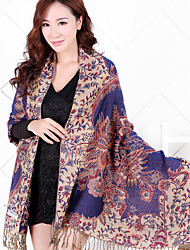 National Wind Jacquard Fringed Shawl Travel Cotton Long Warm Scarves