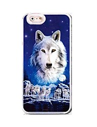 EFORCASE® White Wolf HD 3D Stereoscopic TPU and PC Phone Case for  iphoneSE/5S/5/6/6S/6plus/6S plus