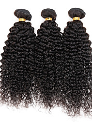 "3 Pcs/Lot 8""-30"" Malaysian Natural Kinky Curly Hair Extensions Weave 7A Grade Black Real Remy Human Hair 300G"