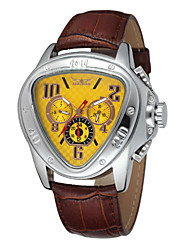 WINNER Masculino Relógio de Pulso relógio mecânico Calendário Automático - da corda automáticamente Couro Banda Luxuoso Preta