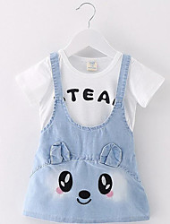 2016 New Girls Summer wear short sleeved cotton dress cartoon infant one generation of foreign trade clothing