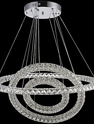 Indoor Lighting LED Crystal Ceiling Pendant Lights Chandeliers Lamp with 3Rings 78W D406080CM CE FCC ROHS