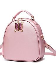 Women PU Formal Shoulder Bag Pink / Black