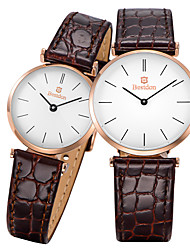 Bestdon® Fashion Vintage Leather Water Resistant Japanese Quartz Couple's Lovers' Wristwatch