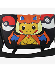 Bag Inspired by Pocket Monster Ash Ketchum Anime Cosplay Accessories Bag Black PU Leather Male / Female