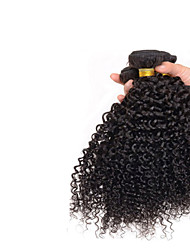 7A Mongolian Kinky Curly Hair 3 Bundles Natural Black 100% Afro Human Brazilian Curly Virgin Hair
