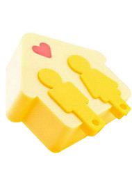 Yellow Love Lodge LED Light Control With a Key Chain Dual-use Warm Aisle Night Light