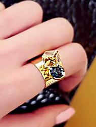 Gorgeous Rhinestone Embellished Faux Gem Alloy Ring For Women