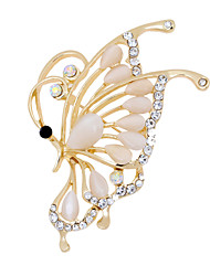 Fashion Lovely Butterfly Shape Alloy Opal Brooches for Wedding