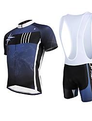 ILPALADINO Maillot de Ciclismo con Shorts Bib Hombre Manga Corta Bicicleta Petos de deporte/Culotte con tirantes Camiseta/Maillot Sets de