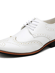 Men's Shoes Wedding / Office & Career / Party & Evening / Casual Customized Materials Oxfords Black/Yellow/White