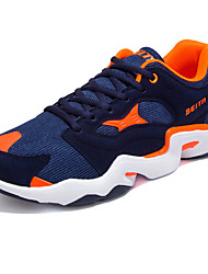 Men's Shoes Tulle Casual Sneakers / Clogs & Mules Casual Indoor Court Flat Heel Others / Lace-up Blue / Black and