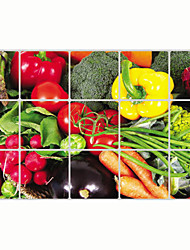 Wall Stickers Wall Decals, Vegetables Pepper Kitchen Use PVC Wall Sticker