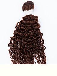 """EVET 6Pcs 2x10"""",2x12"""",2x14"""" Peruvian Kinky Curly Virgin Hair Peruvian Virgin Hair Weave Curly Hair Extension #1B #2 #4"""