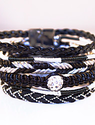 Jewelry Tibet Women Multilayer Bracelet High-grade Leather Alloy Magnetic Clasp