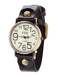 Mulheres Relógio de Moda Relógio Casual Quartzo Relógio Casual Couro Banda Vintage Torre Eiffel Preta Azul Vermelho Marrom