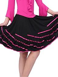 Bas(Noire / Fuchsia / Violet / Rouge,Fibre de Lait,Danse de Salon)Danse de Salon- pourFemme Ruchés plongeants Spectacle Danse de Salon