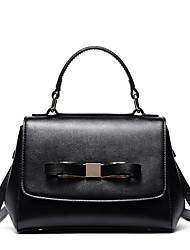 Stiya Fashion Lady Lovely Bowknot Design Genuine Leather Schoolgirl Shoulder Bag