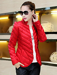 Women's Solid Multi-color Padded Coat,Simple Turtleneck Long Sleeve