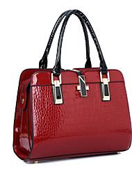 Для женщин Полиуретан / Лакированная кожа Для торжеств и мероприятий / На каждый день / Для офиса / Для шоппинга Сумка-шоппер
