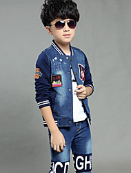 Boy's Cotton Spring/Fall Fashion Printing Relaxation Cowboy Two-piece