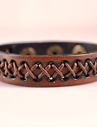 Genuine Leather Jewelry Punk Handmade Classic Vintage High Quality Bracelets