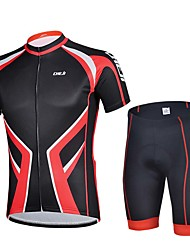 Sportif Vélo/Cyclisme Maillot + Short/Maillot+Cuissard / Hauts/Tops / Bas Homme Manches courtes Respirable / Anti-transpiration Elasthanne