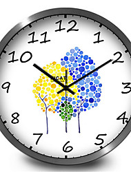 Simple Fresh Small Tree Home Decoration Creative Living Room Bedroom Quiet Wall Clock