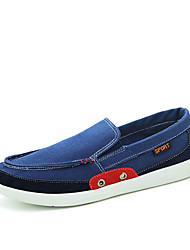 Men's Flats Spring / Fall Comfort Fabric Casual Flat Heel Others Blue / Green / Gray / Navy Walking