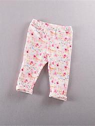 Mädchen Leggings-Lässig/Alltäglich Blumen Baumwolle Sommer Rosa