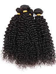 "4 Pcs/Lot 8""-26"" Virgin Indian Wavy Hair Natural Black Kinky Curly Types Of Hair Extensions 400G"