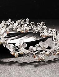 Mujer Diamantes Sintéticos / Cristal / Latón / Perla Artificial Celada-Boda Tiaras 1 Pieza Claro Redondo 14