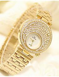 Women's Fashion Watch Quartz Japanese Quartz / Stainless Steel Band Sparkle Silver Gold