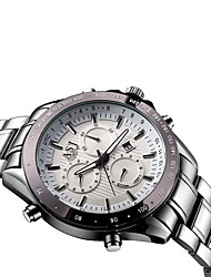 Classic Business Sports Male Men New Listing Quartz Wristwatch Full Stainless Steel Waterproof Calendar Fashion Watch