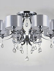40w Chandelier ,  Modern/Contemporary Chrome Feature for Crystal Fabric Living Room / Bedroom / Dining Room / Hallway
