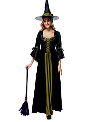 Cosplay Costumes Wizard/Witch Movie Cosplay Black Solid Dress Halloween / Christmas / New Year Female Lycra