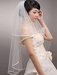 Wedding Veil Two-tier Blusher Veils / Elbow Veils / Fingertip Veils Ribbon Edge
