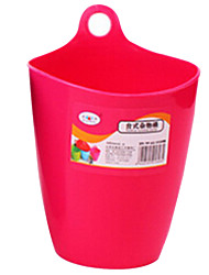Plastic Storage Box Trash Cans for Desk Storage(Random Color)