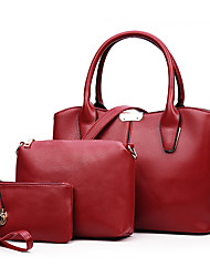 Women PU Formal / Casual / Office & Career / Shopping Tote White / Blue / Red / Black / Burgundy