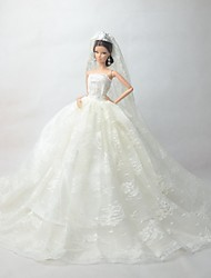Wedding Costumes / Dresses For Barbie Doll Ivory Dresses