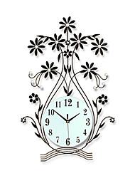Modern Style Creative Vase Mute Wall Clock
