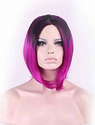 38cm Art und Weise reiz flauschigen Damen synthetische Perücke Frauen geneigt frisette kurze Haare Cosplay Perücken schwarze Rose rot