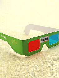 Red and blue 3D glasses making practical ability to explore and cognition