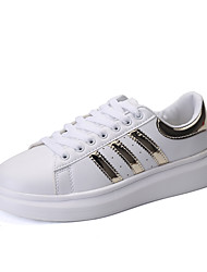 Men's Shoes Casual Sneakers Shoes White and Gold/White and Black