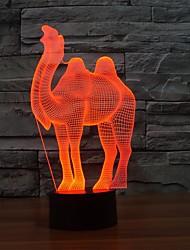 camelo 3d noite deco luz para a sala de crianças bebê lâmpada fantasia presente especial de luz que muda de cor à noite