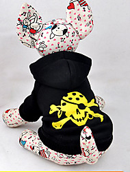 Cat / Dog Costume / Hoodie Black Winter / Spring/Fall Skulls Halloween, Dog Clothes / Dog Clothing