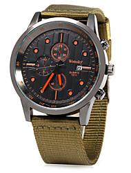 Men's Military Watch Dress Watch Fashion Watch Quartz Casual Watch Fabric Band Cool Black Green Brand